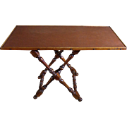 19th Century Antique French Walnut Folding Table