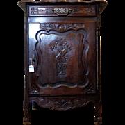 19th Century Antique French Louis XV Style Oak Cabinet Confiturier