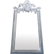 19th Century Antique French Napoleon III Period Mirror