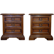 Pair of Antique Italian Renaissance Style Walnut Commodes