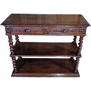 19th Century Antique French Louis XIII Style Oak Sideboard