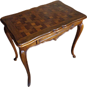 19th Century Antique French Louis XV Style Walnut Table