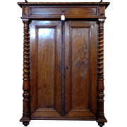 19th Century Antique French Louis XIII Style Oak Cabinet