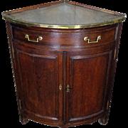 18th Century Antique French Louis XVI Period Oak Corner Cabinet