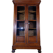 19th Century Antique French Louis Philippe Period Oak Bookcase