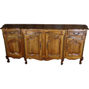 Antique French Provencal Walnut Buffet Enfilade