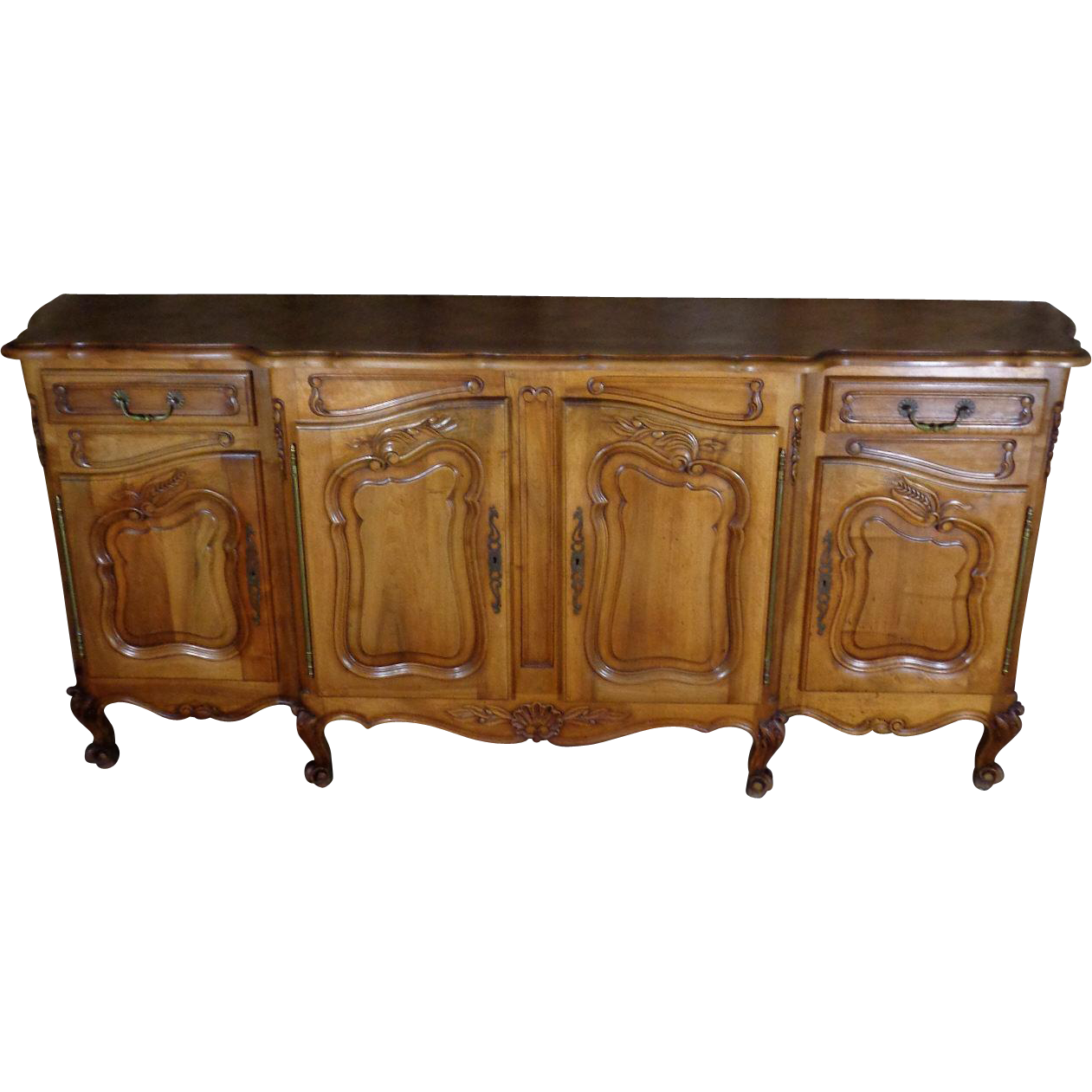 antique french provencal walnut buffet enfilade from. Black Bedroom Furniture Sets. Home Design Ideas