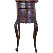 19th Century Antique French Louis XV Style Walnut Nightstand