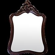 19th Century Antique French Louis XV Style Walnut Mirror