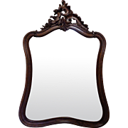 19th Century Antique French Louis XV Style Walnut Mirror