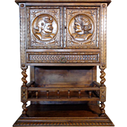 19th Century Antique French Renaissance Style Cabinet Bar