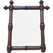 19th Century Antique French Faux Bamboo Pine Mirror