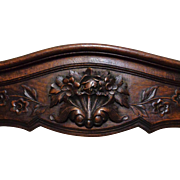 19th Century Antique French Provencal Oak Crest.