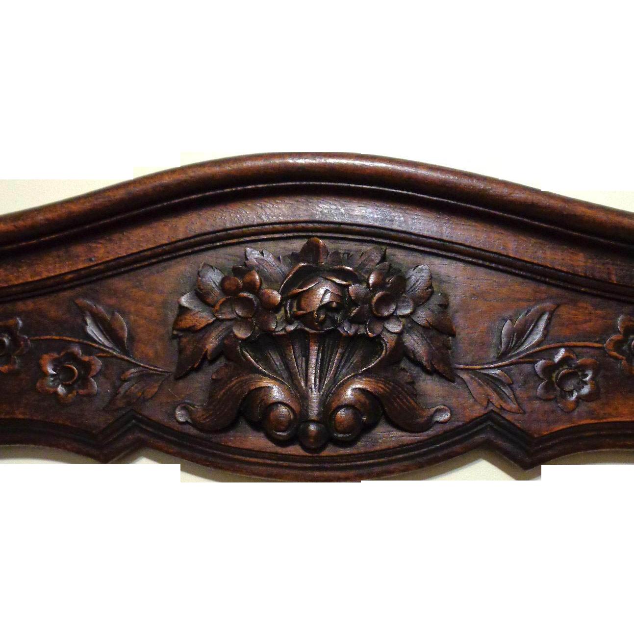 19th Century Antique French Provencal Oak Crest.