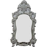 19th Century Antique Italian Pine Mirror