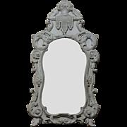 19th Century Antique Italian Pine Mirror