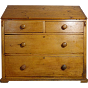 19th Century Antique Irish Pine Slant Front Desk