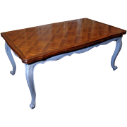 Antique Country French Louis XV Style Provencal Walnut Dining Table