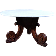Antique Italian Rococo Walnut Coffee Table