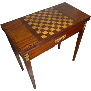 19th Century Antique French Louis XVI Style Parisian Game Table