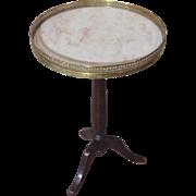 Antique French Louis XVI Style Mahogany Round Table Gueridon
