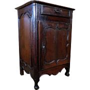 18th Century Antique Country French Louis XV Period Walnut Cabinet Confiturier