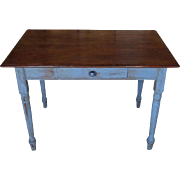 19th Century Antique French Louis Philippe Period Pine Writing Table