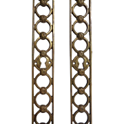 Pair of 19th Century Antique French Empire Period Bronze Escutcheons