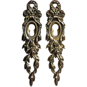 Pair of 19th Century Antique French Louis XVI Bronze Escutcheons