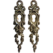 Pair of 19th Century French Louis XVI Bronze Escutcheons