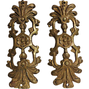 Pair of 18th Century Antique French Cast Bronze Omolu Furniture Mount