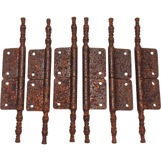 Set of 6 18th Century Antique French Armoire Hinges