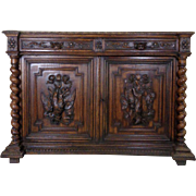 19th Century Antique French Renaissance Style Hunting Buffet
