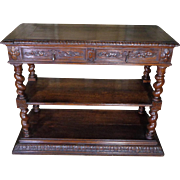 19th Century Antique French Louis XIII Oak Sideboard