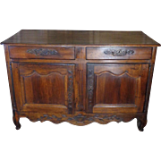18th Century Antique French Louis XV Period Walnut Provencal Buffet