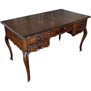 19th Century Antique French Louis XV Style Oak Desk