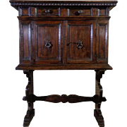 18th Century Antique Italian Renaissance Period Walnut Cabinet