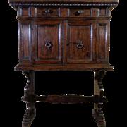 18th Century Antique Italian Renaissance Period Walnut Cabinet