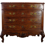 19th Century Antique French Louis XV Rococo Style Commode