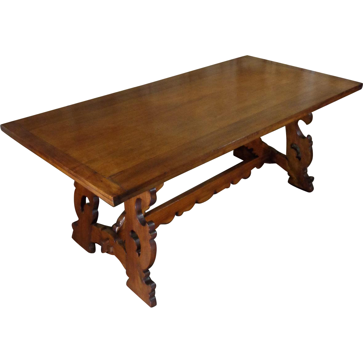 Italian Walnut Dining Table 19th Century Antique Italian Walnut Dining Table From