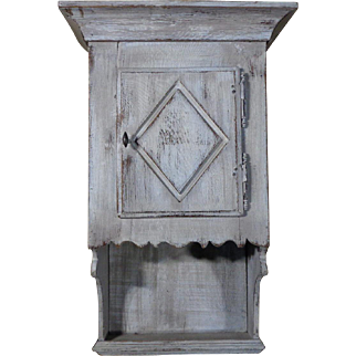 19th Century Antique French Renaissance Style Wall Cabinet