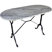 Antique French Cast Iron Bistro Table