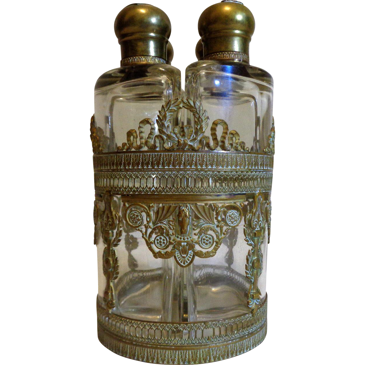 19th Century Antique French Empire Period Decanter Set Tantalus