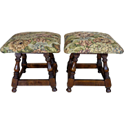 Pair of Antique French Beech Foot Rests