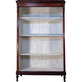 19th Century Antique French Parisian Mahogany Open Bookcase