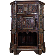 18th Century Antique French Gothic Style Oak Cabinet