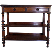 19th Century Antique French Louis Philippe Period Walnut Sideboard