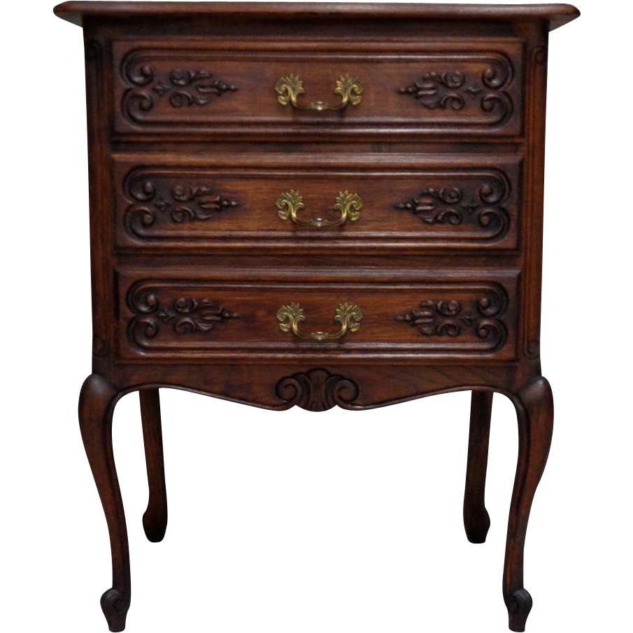 antique french louis xv style oak commode from. Black Bedroom Furniture Sets. Home Design Ideas