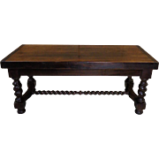 Antique French Louis XIII Style Walnut Coffee Table