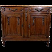 19th Century Antique French Louis XVI Style Walnut Buffet
